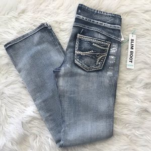 Slim Boot Faded Style Stretch Jeans